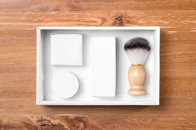 ボックス内の理髪店グルーミングツール