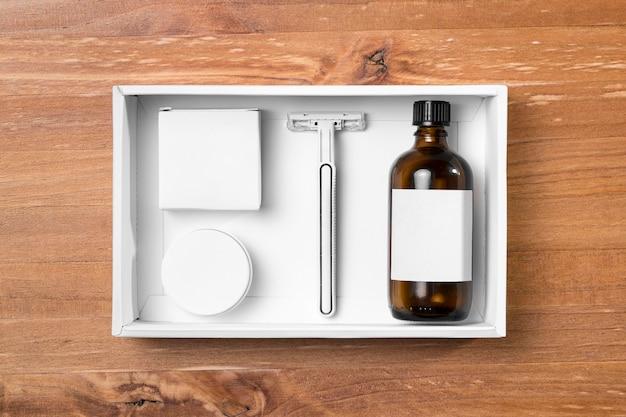 Инструменты для ухода за волосами в парикмахерской, масла и бритвы
