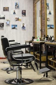 理髪店のインテリア