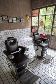 Barber shop retro vintage style