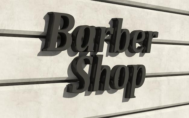 建物のファサードにある理髪店の看板
