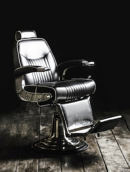 Barbershop armchair, modern hairdresser and hair salon, barber shop for men. beard, bearded man.