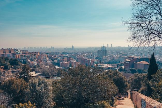 Вид на город барселона