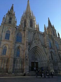 Барселона, испания, 23 декабря 2017 г., вид на собор барселоны