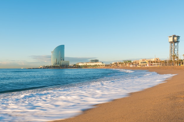 Barceloneta beach in barcelona spain