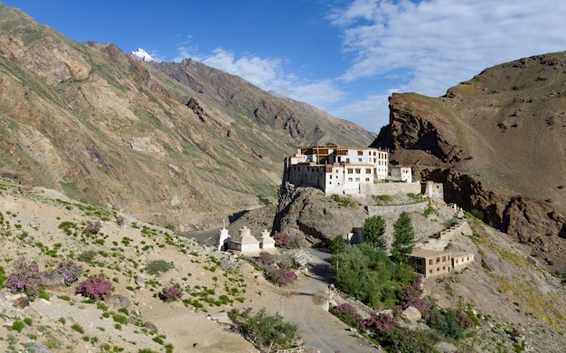 Bardan monastery or bardan gompa is a 17th-century buddhist monastery,  padum,  in zanskar,  ladakh,  northern india
