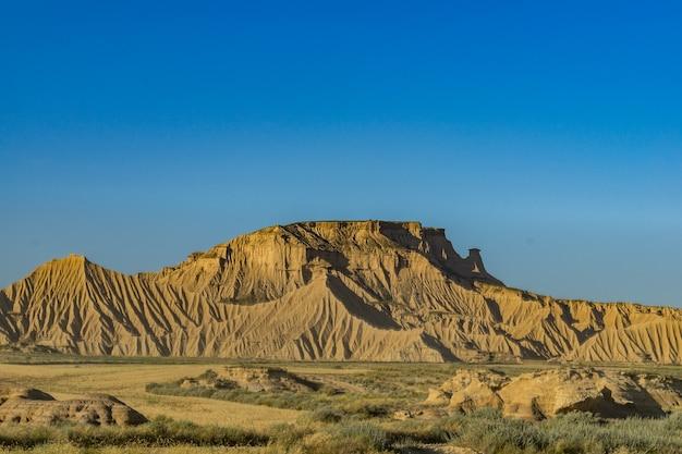 Bardenas reales semi-desert natural region in navarre, spain