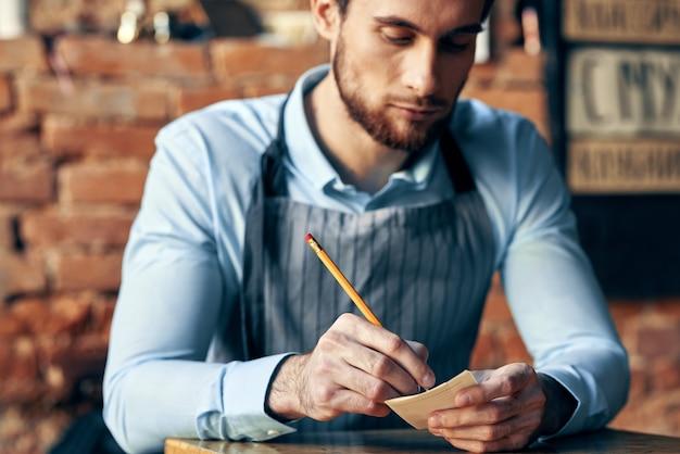 Barista coffeeshop order acceptance service professional work