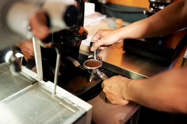 바리 스타 분쇄 커피