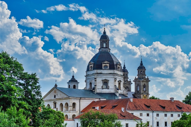 Baroque architectural style monastery and the church of the visitation of pazaislis.