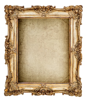 Baroque style golden picture frame