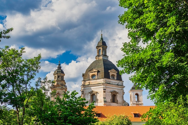 Baroque style of pazaislis monastery and the church of the visitation.
