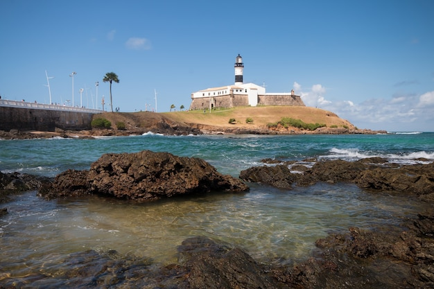 Barra lighthouse tourist point of salvador bahia brazil.