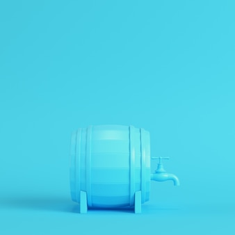 Barrel with a tap in pastel colors