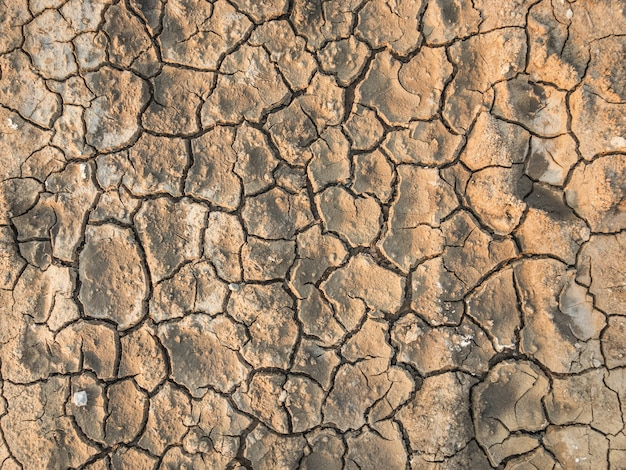 Barren crack dirt ground texture background