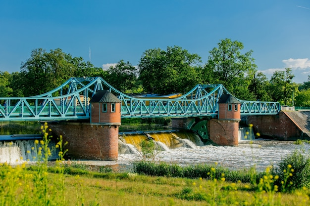ポーランド、ヴロツワフの1900年代のバリア川