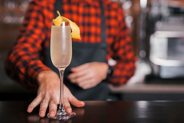 Bartender preparing a refreshing cocktail
