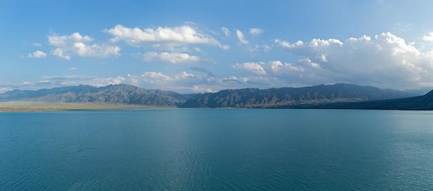 Bartogai dam on a mountain river chilik, kazakhstan
