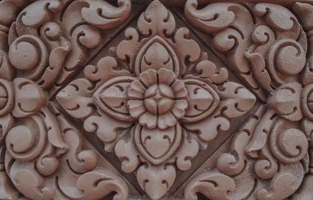 Bas relief of lotus flower