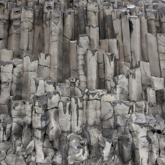 Basalt columns geological formation