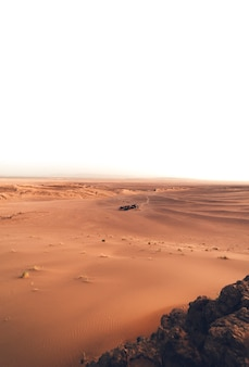 Base camp in the sahara desert