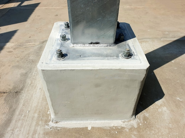태양광 카포트 철골구조용 베이스플레이트 연결