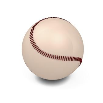 白で隔離の野球ボール。 3dイラスト。