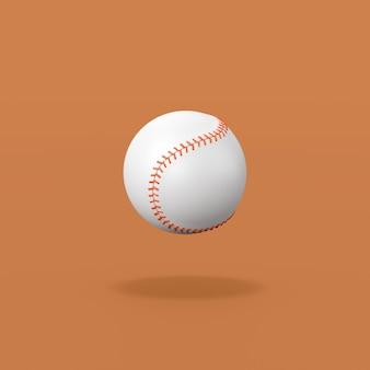 Baseball ball on orange background