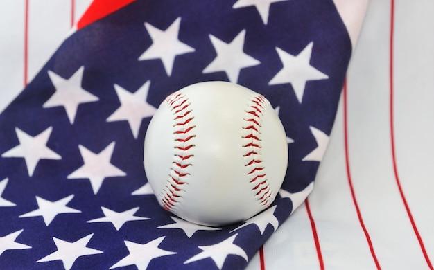 Baseball ball on usa flag