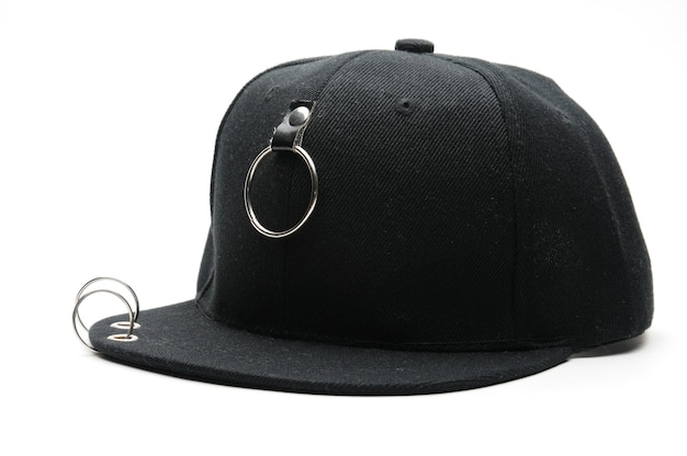 격리 된 흰색 배경에 청소년을위한 야구 모자