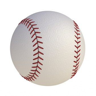Baseball isolated on white background, 3d rendering