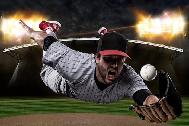 野球場の野球選手。