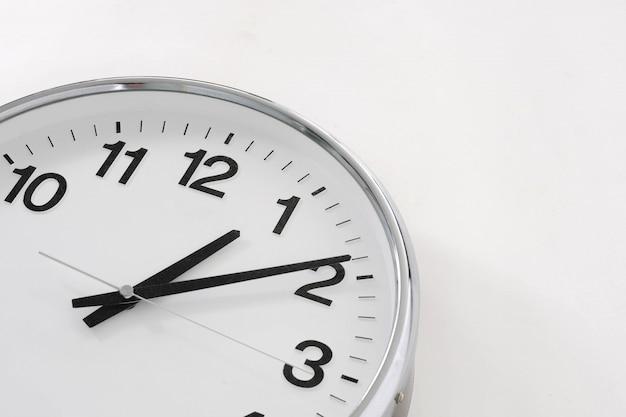 Basic clock on white background