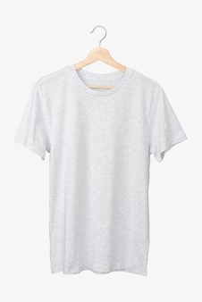 Basic grey t-shirt on a hanger
