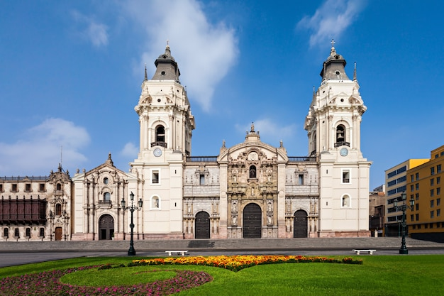 Basilica cathedral, lima city in peru