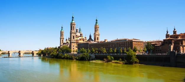 Basilica  and ebro river. zaragoza