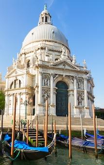 곤돌라, 베니스, 이탈리아와 대성당 산타 마리아 델라 경례