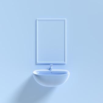 Макет бассейна и зеркала