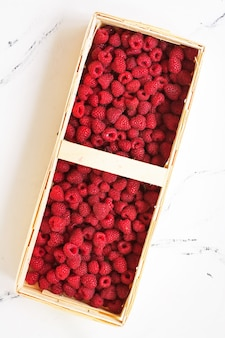 Basket of rasberry