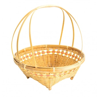 Basket thai style isolated on white