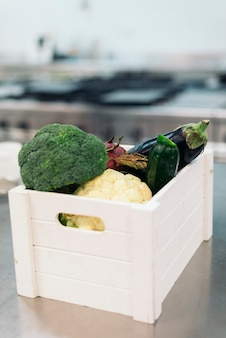 Basket of vegetables.