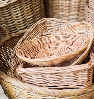 Basket wicker of thai handi craft