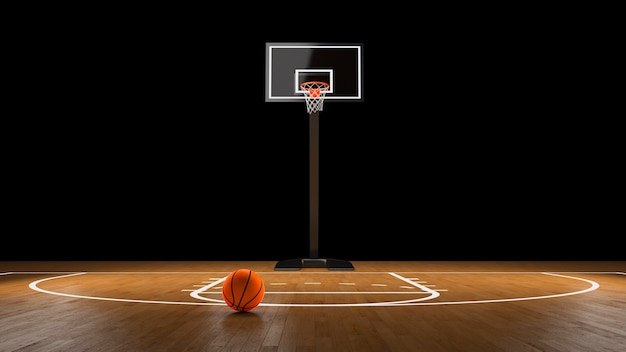 공 농구 경기장