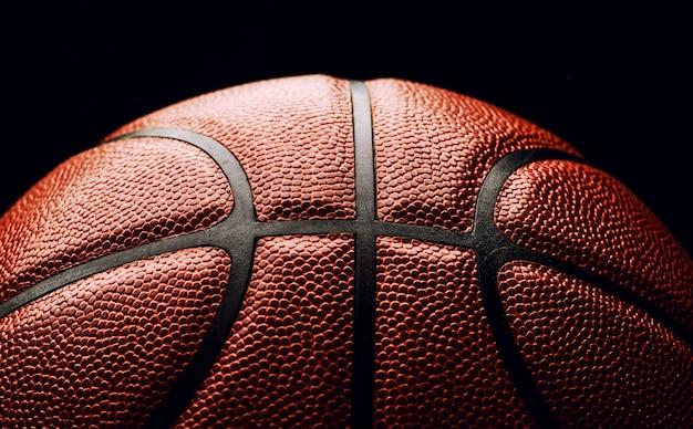 Баскетбольный мяч крупным планом