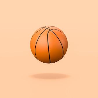 Basketball ball on orange background