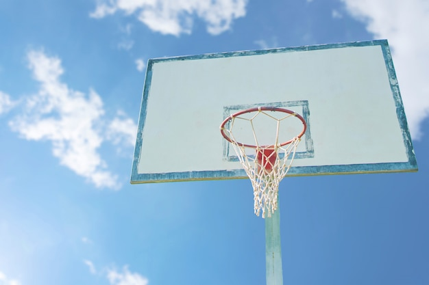 Basketball basket.