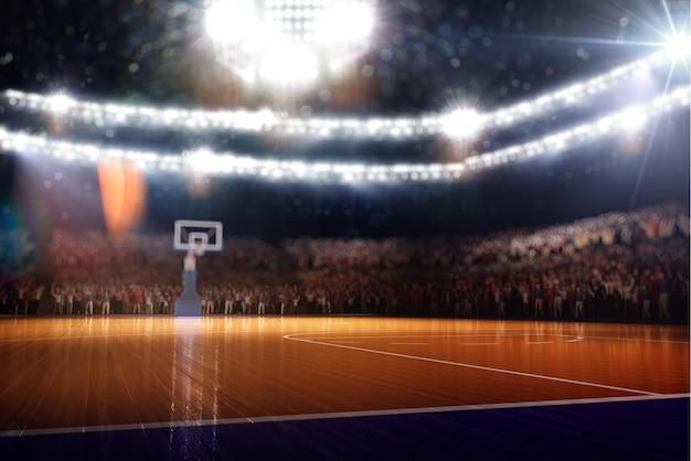 농구 코트 스포츠 경기장 3d 렌더링 배경