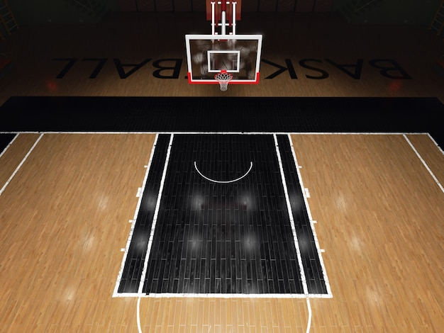 バスケットボールのコート。スポーツアリーナ。