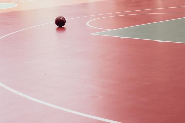 Basketball on floor sport concept idea