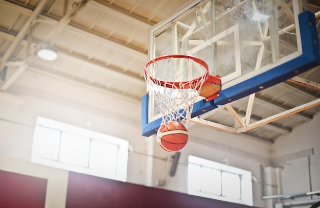 Basketball goal in the ring